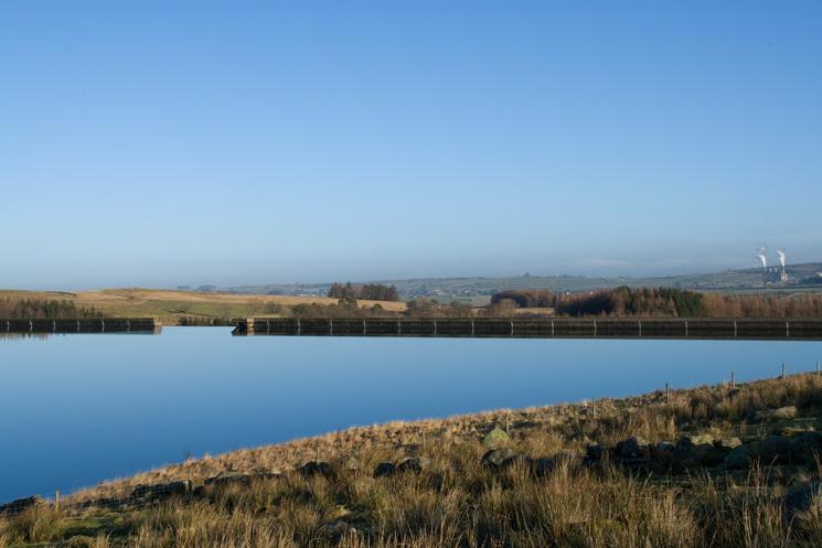 Looking back to Wet Sleddale Reservoir's dam