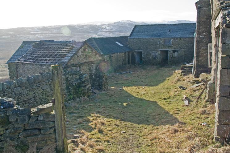 Sleddale Hall, inside the quadrangle