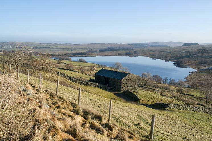 Wet Sleddale Reservoir from Sleddale Hall