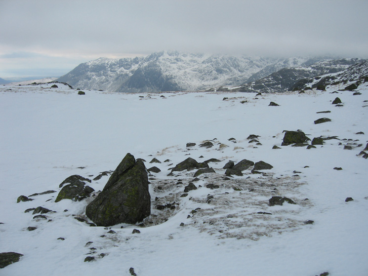 Another of the Three Tarns with the top of the Scafells in cloud