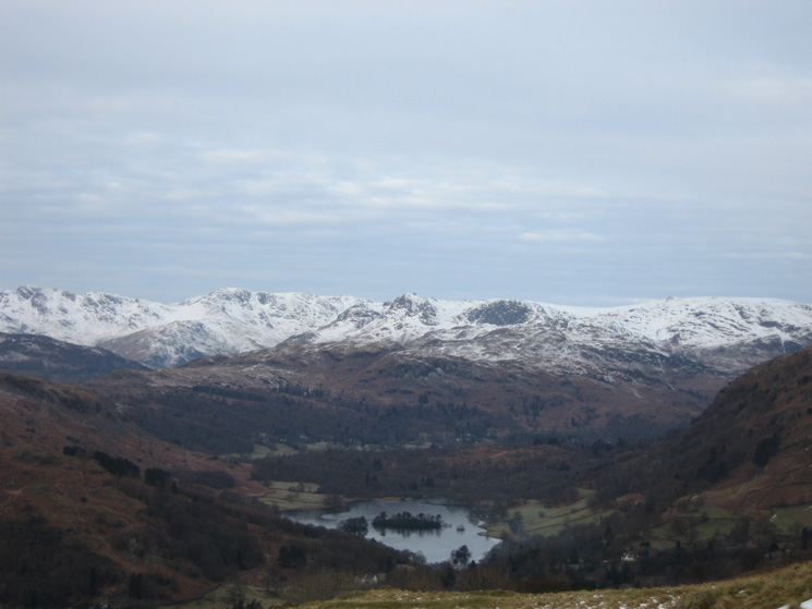 Snow on the Langdale fells