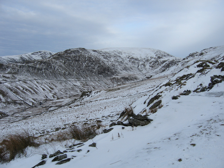 Looking across Scandale to High Pike and Dove Crag
