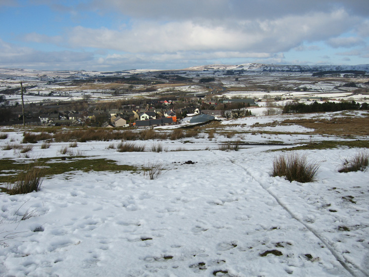 Looking down on Tebay and the M6