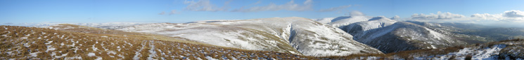 Howgill panorama from Blease Fell