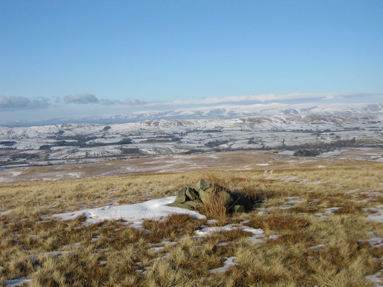 The North Pennines from Hare Shaw summit cairn
