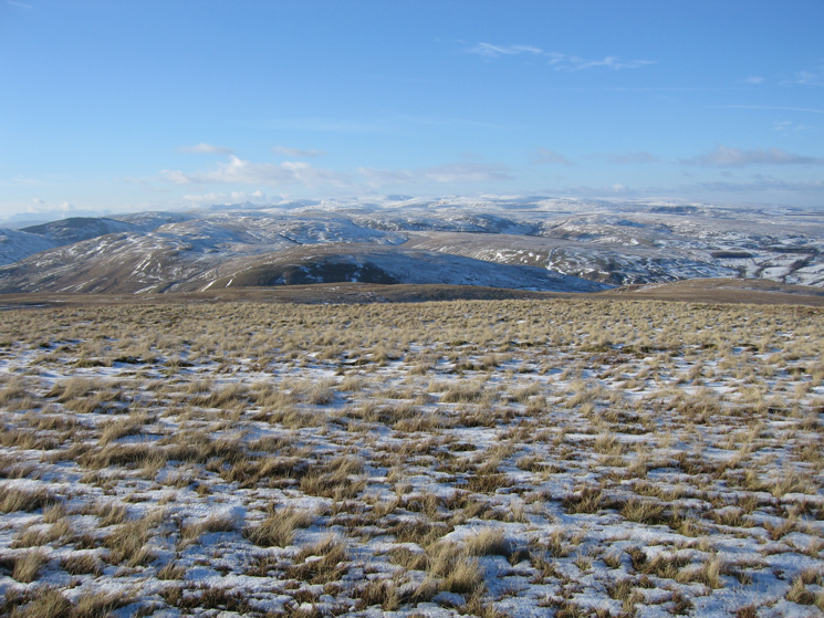 West to the Lakeland fells from Hare Shaw