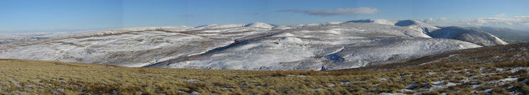 Howgill panorama from Hare Shaw