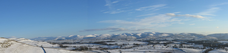 The Howgill fells from Orton Scar on the way home