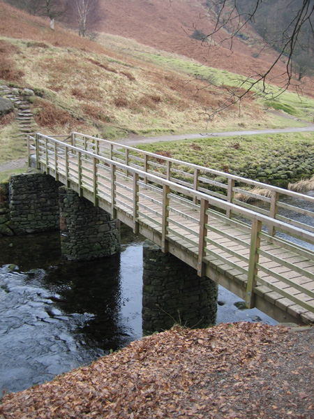 Bridge over the River Rothay near Grasmere's weir