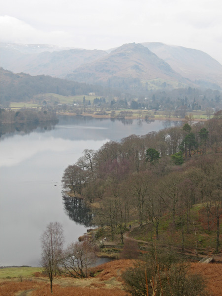 Grasmere and Helm Crag from the end of Loughrigg Terrace