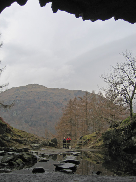 Looking out of Loughrigg Cave