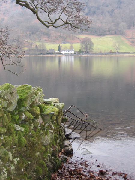Across Rydal Water to Nab Cottage