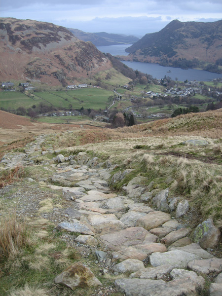 Glenridding and Ullswater from the Mires Beck path