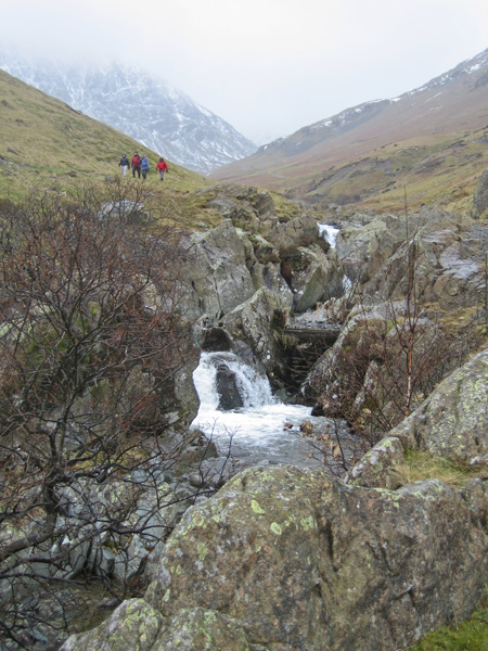 Glenridding Beck with Catstycam's northwest ridge in the distance