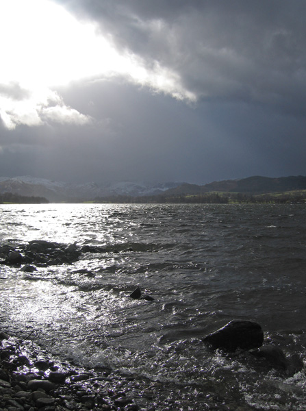 Snow on the high fells, here comes some weather, time to turn round!