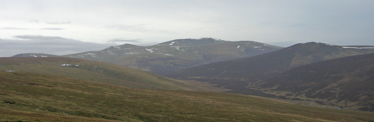 The Skiddaw fells and Great Calva on the right