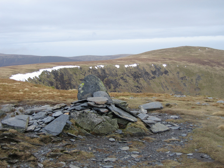 Looking back to Bowscale Fell from Bannerdale Crags