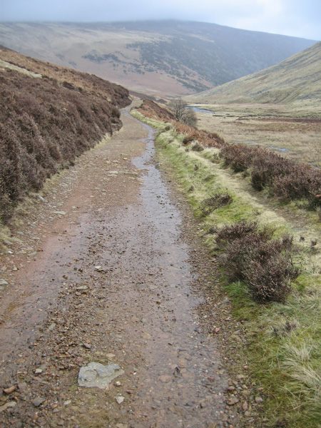On the Cumbria Way with Carrock Fell ahead