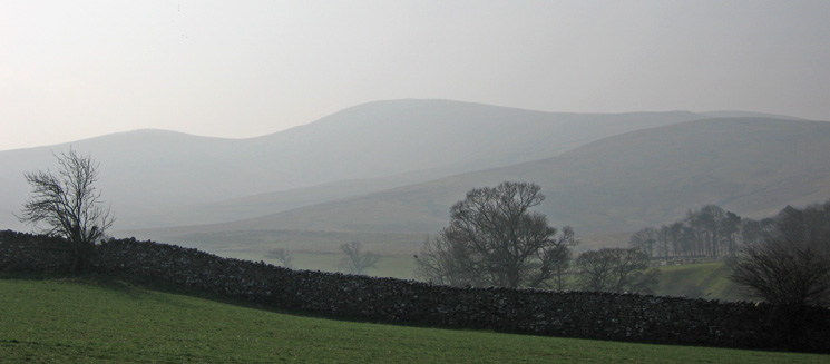 A hazy Green Bell to the south