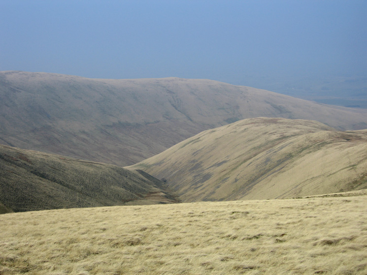 The long ridge of Hooksey and Turn End (middle right)