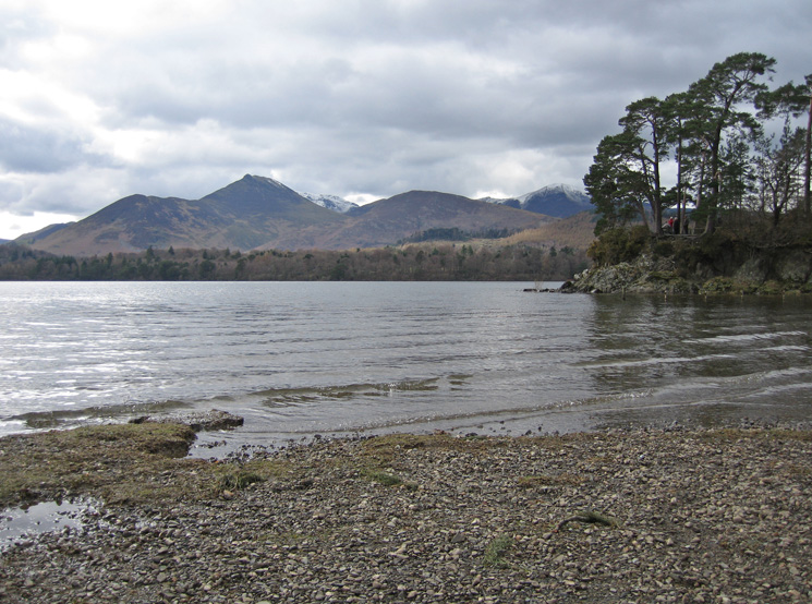 Looking across Derwent Water to Causey Pike from near Friar's Crag