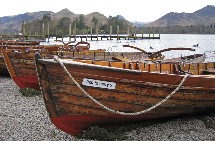 Rowing boats for hire at the landing stages