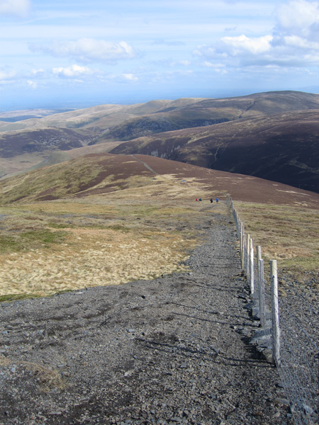 Looking back down on Bakestall as we head up on to Skiddaw