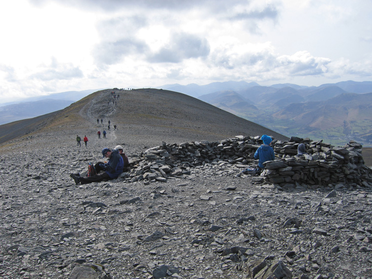 A few people on Skiddaw today!