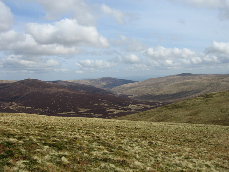 Great Calva on the left, Carrock Fell in the centre and Bowscale Fell on the right