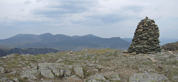 The Grasmoor fells from High Spy's summit