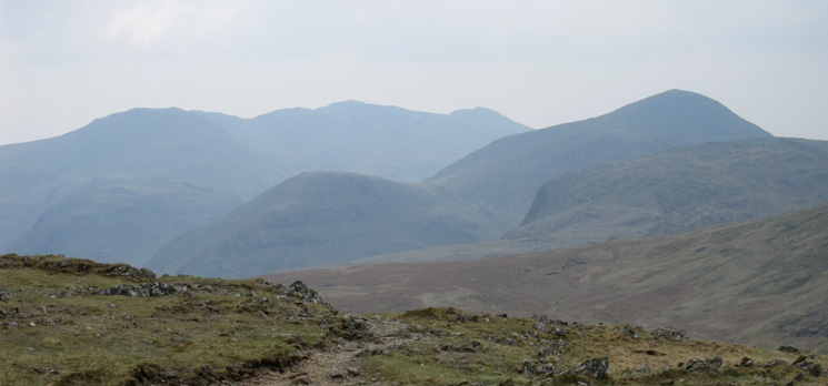 The Scafells and Great Gable