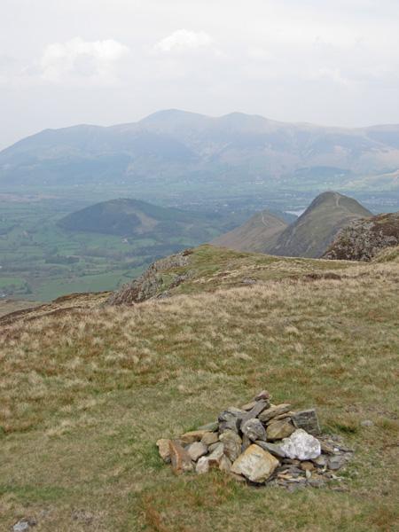 The Skiddaw fells from Maiden Moor's summit