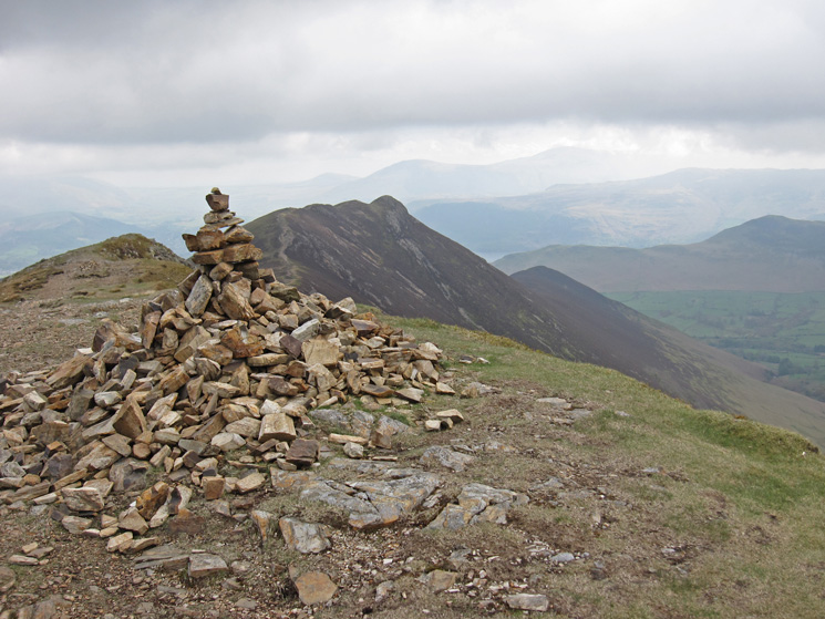 Looking back to Causey Pike from Scar Crags summit cairn