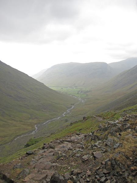 Looking back to Wasdale Head