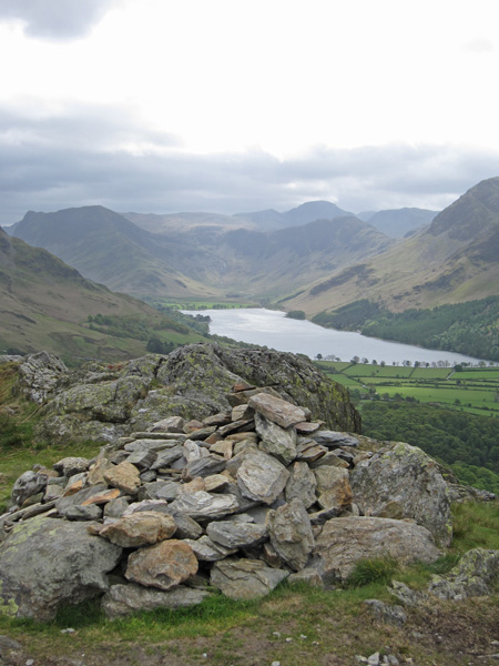 Buttermere from Rannerdale Knotts summit