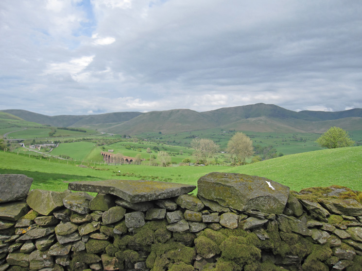 The Lune gap on the left and the Howgill Fells on the right