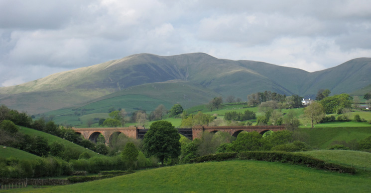 Lune Viaduct with Fell Head beyond