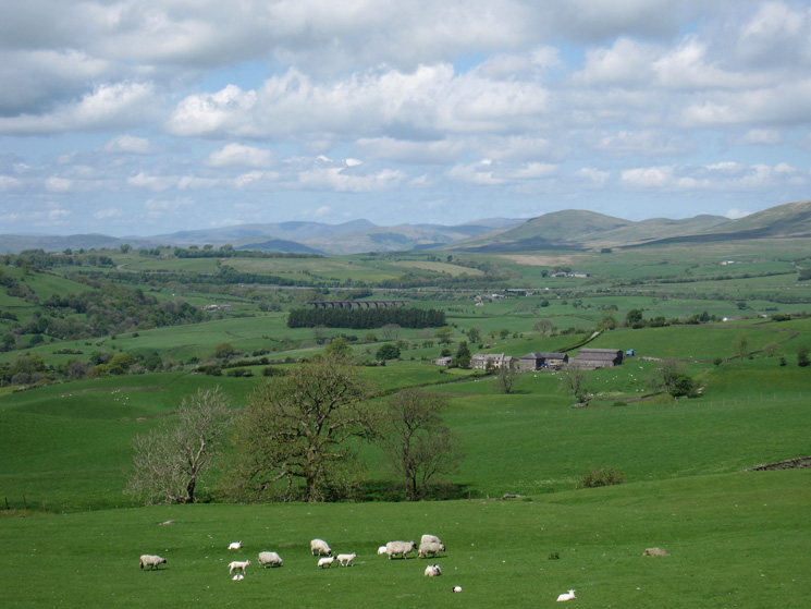 North west to the Lakeland Fells