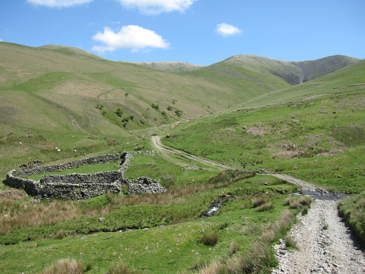 The large sheepfold at the junction of Bram Rigg Beck and Swarth Greaves Beck