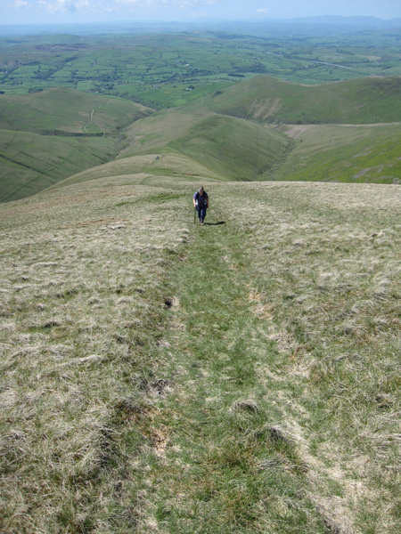 Looking down Bram Rigg, its a long way up!