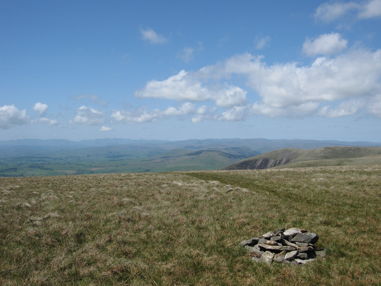 The Lakeland Fells from Bram Rigg Top