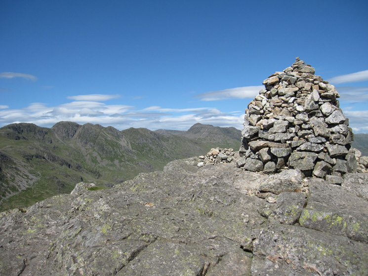 Crinkle Crags and Bowfell from Pike o'Blisco's summit