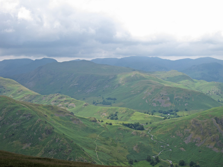 Place Fell with the eastern fells behind from Bonscale Pike