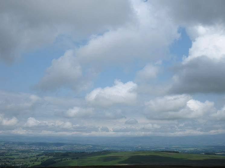 Heughscar Hill with the North Pennines beyond