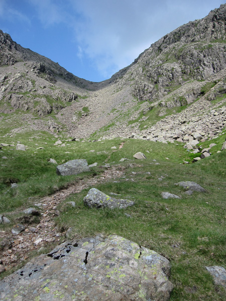 The last section up to Broad Crag Col