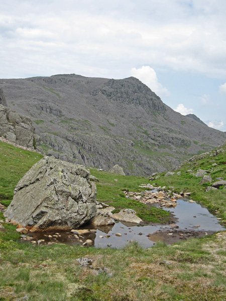 Scafell Pike from Foxes Tarn