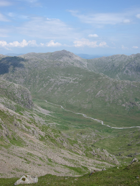 Looking over Great Moss to Bowfell