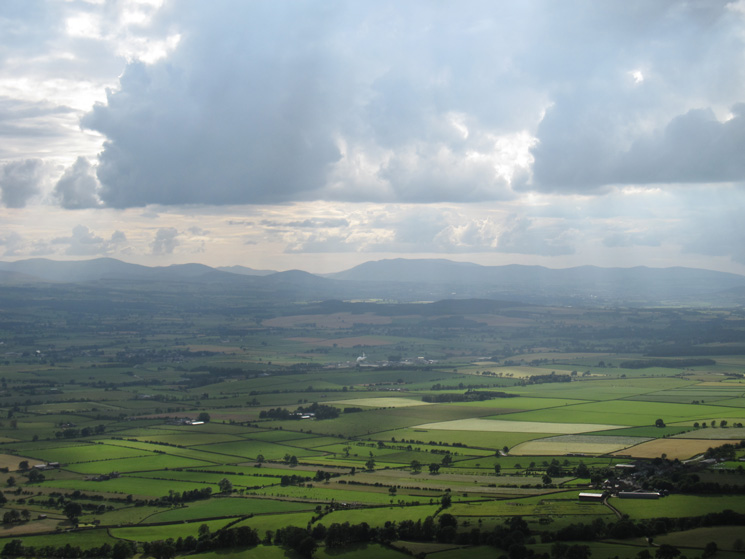 Looking across The Vale of Eden to the north east Lake District