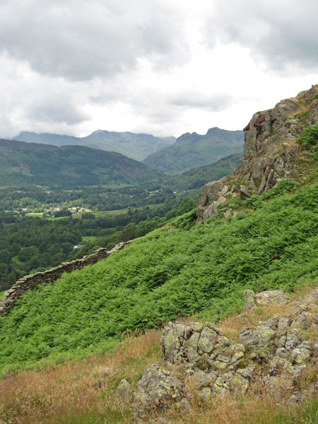 Towards the Langdale Pikes