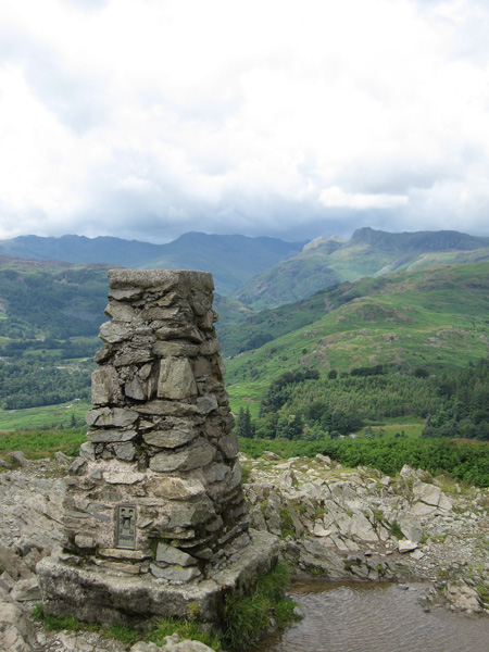 Loughrigg Fell's summit trig point
